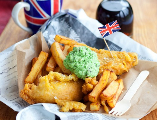 Beer Battered Fish with Minted Peas