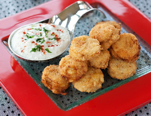Piccolo Parsnip Fritters with Blue Cheese Dip