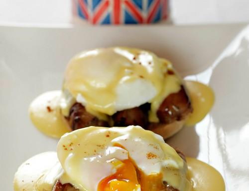 Sausage Eggs Benedict