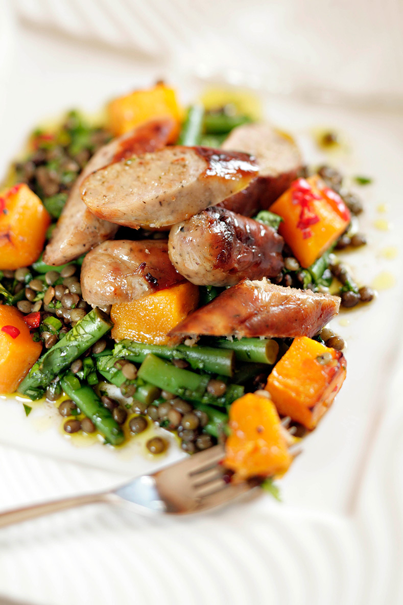 Sausage-&-lentil-Salad-with-Roasted-Squash-edited
