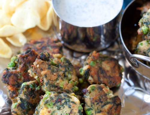 Pea, Spinach and Potato Cakes