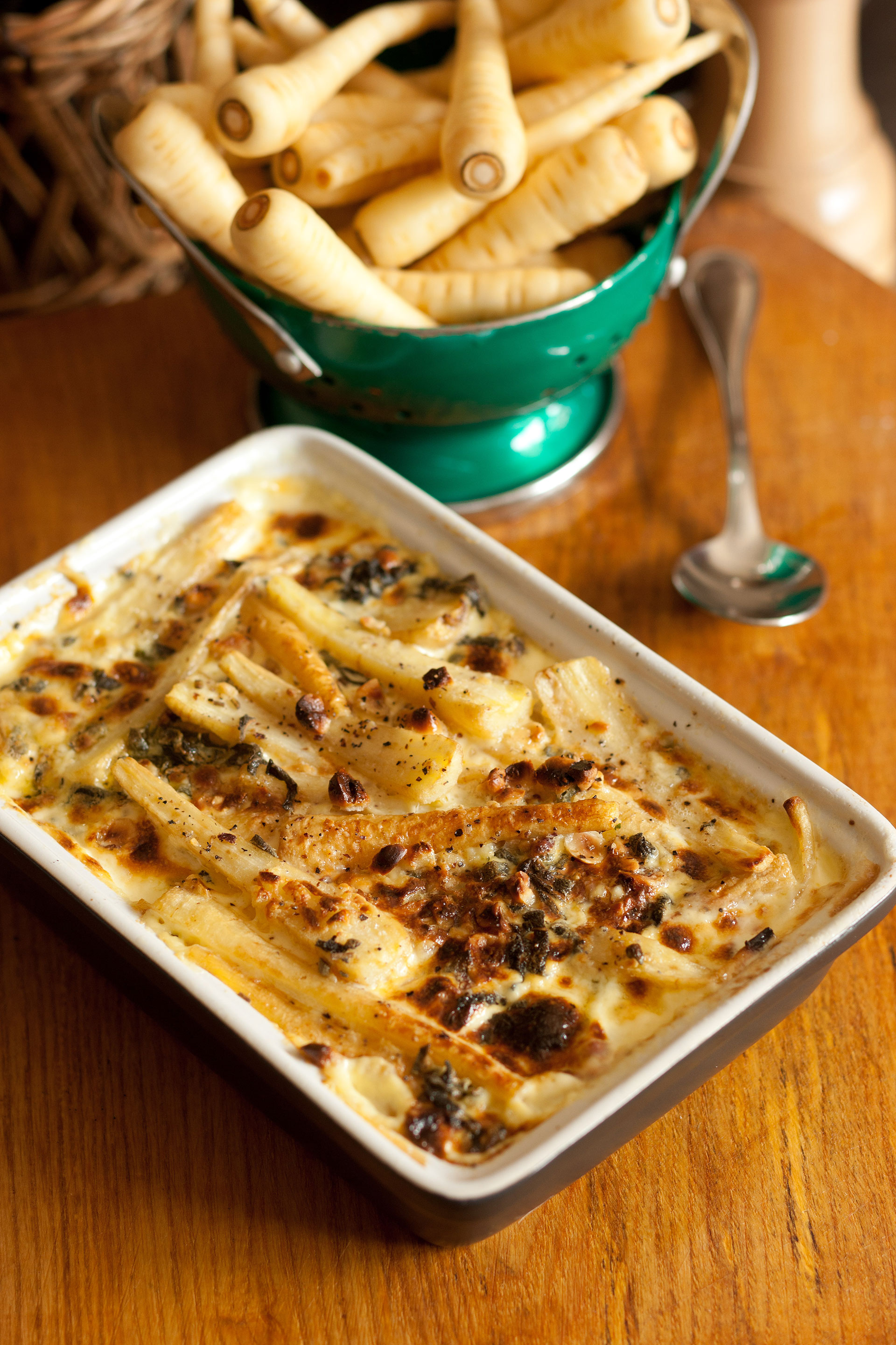 Piccolo Parsnip with Sage and Hazelnut Dauphinoise